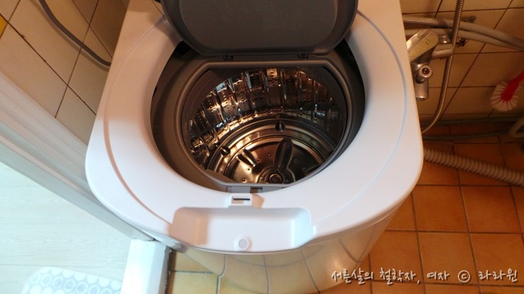 삼성 아기사랑 세탁기 화장실 설치