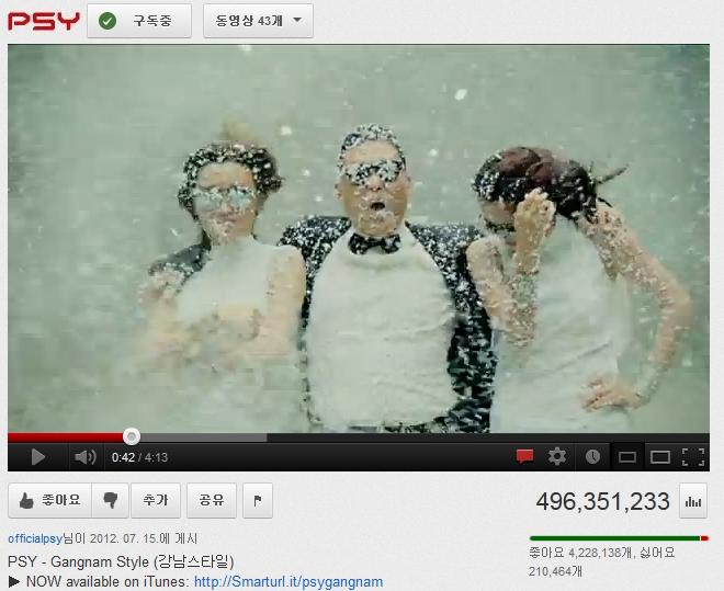 강남스타일 유튜브 조회수