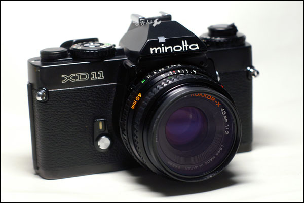 minolta XD11 + MD ROKKOR-X 45mm