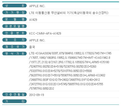 아이폰5 국내출시일 이제 초읽기, 19일 아이폰5 전파인증 통과