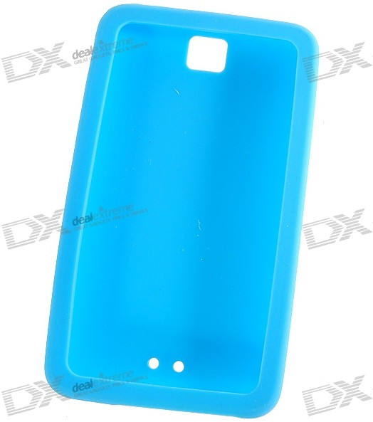 ipod touch silicone case with camera hole, blue