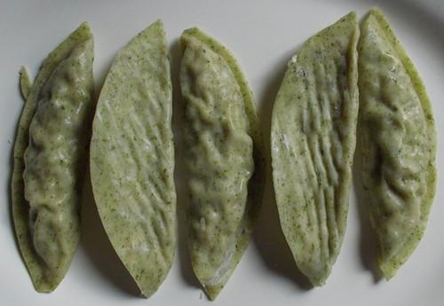 한성기업 해물고추잡채 군만두, 파래 만두피