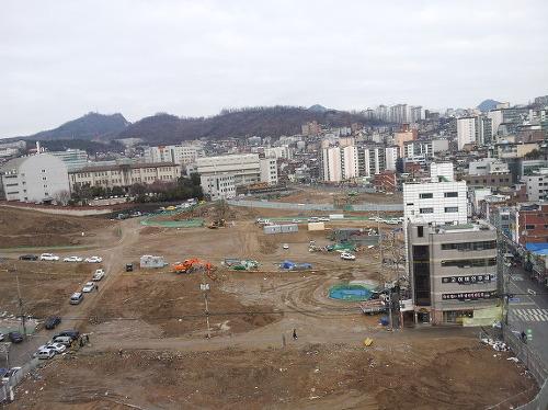 북아현 재개발 구역 현장 사진.