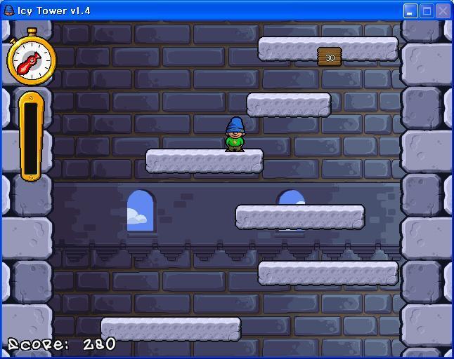 얼음타워 다운로드 - Icy Tower V1.4 게임 다운 - 정말 재미있는 얼음타워 Icy(Ice) Tower 설치및 게임방법