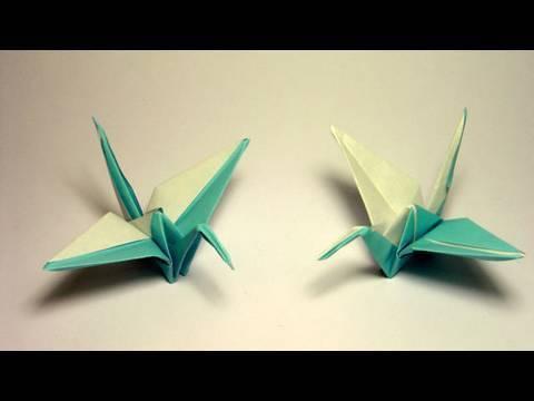 두 가지 색깔 색다른 학 종이접기 동영상