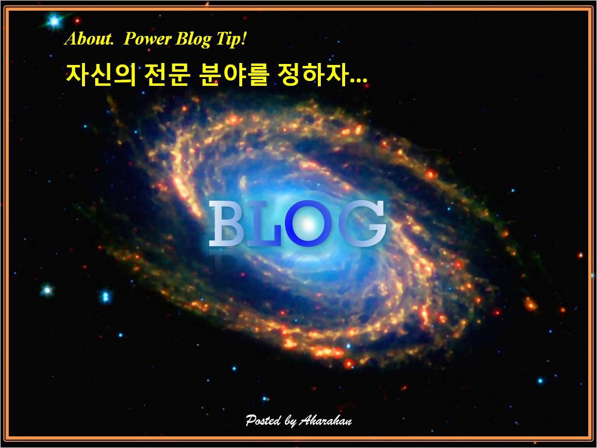 장수하는 블로그 만드는 방법, 자신의 전문 분야를 정하자...[파워블로그 따라잡기 1탄]