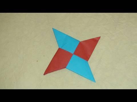 닌자 표창/수리검 종이접기 동영상