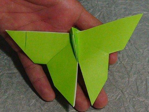 간단한 나비 종이접기 동영상