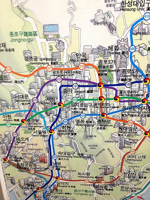 서울 지하철 노선도 확대그림