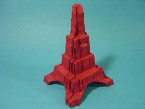 에펠탑 건축물(Robin Glynn) 종이접기 동영상