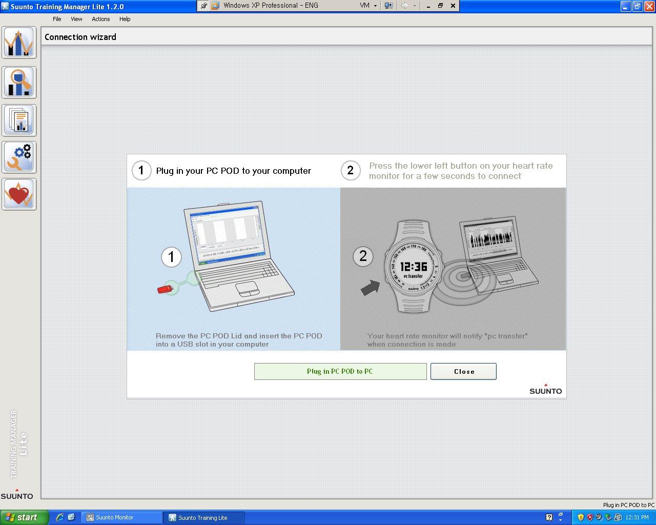 PC POD를 PC의 USB 단자에 연결