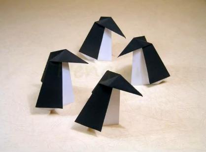 펭귄 종이접기 동영상