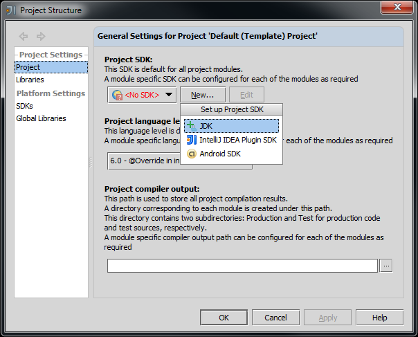Project Compiler Output Intellij