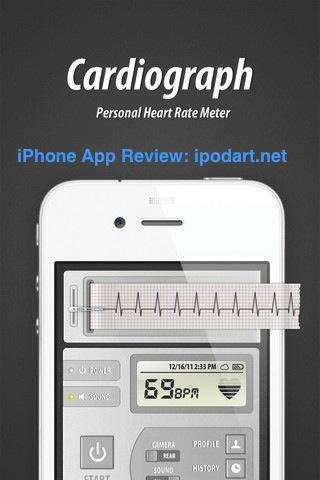 아이폰 아이패드 심장 박동수 운동 건강 Cardiograph