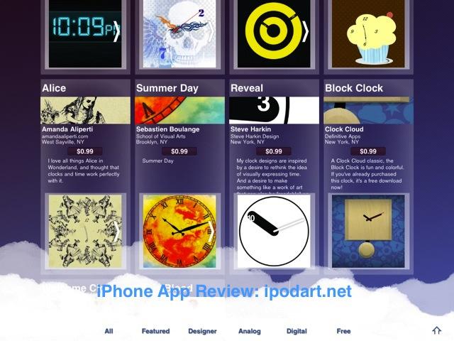 Clock Cloud 아이패드 독특한 시계