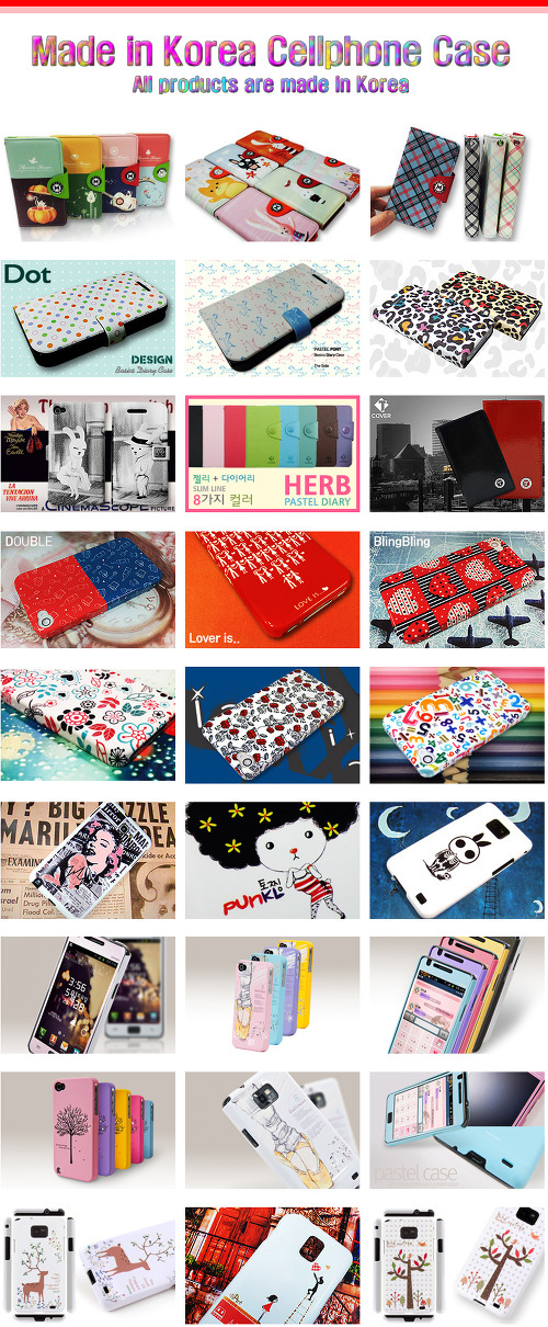 Korean cellphone case(cellphone cover) MOQ 30pcs! iphone4, galaxy, galaxy note