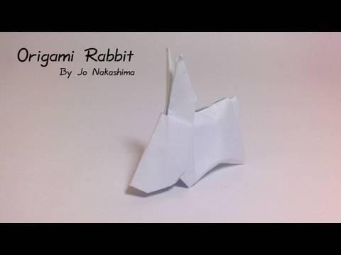토끼(Jo Nakashima) 동물 종이접기 동영상