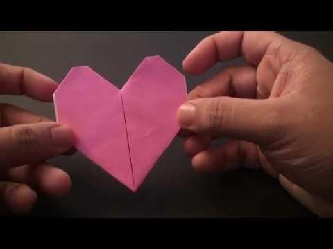간단 하트2 종이접기 동영상