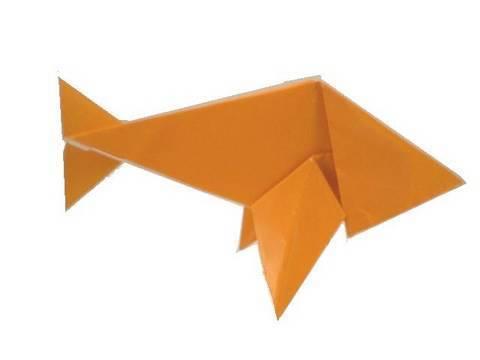 간단한 종이 물고기 접기 동영상