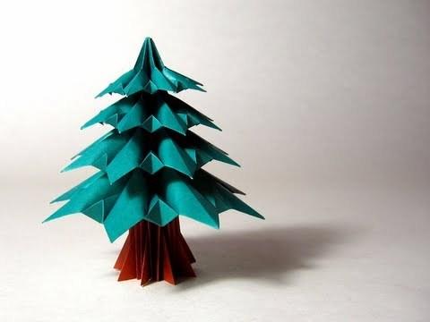 크리스마스 트리 전나무 (Francesco Guarnieri)종이접기 동영상
