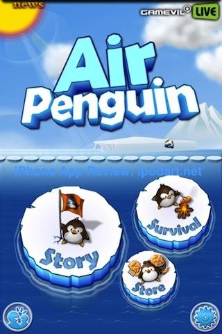 아이폰 액션 어드벤처 Air Penguin