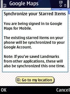 Google Maps - Synchronize your Starred Items