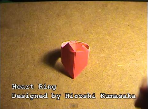 하트 반지 (Hiroshi Kumasaka) 종이접기 동영상
