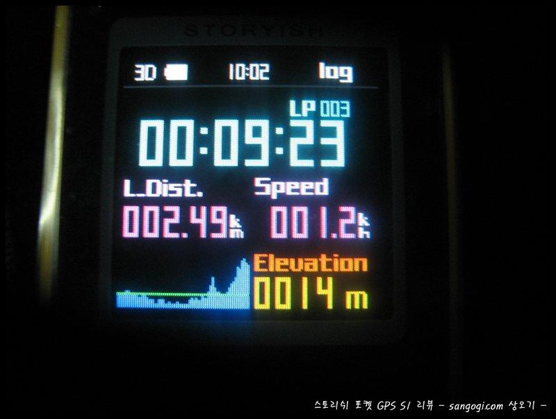 멈춰있지만 속도는 1.2km/h로 나온다~!