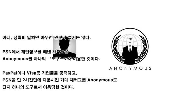 ANONYMOUS 해킹그룹 & 소니 sony의 대결