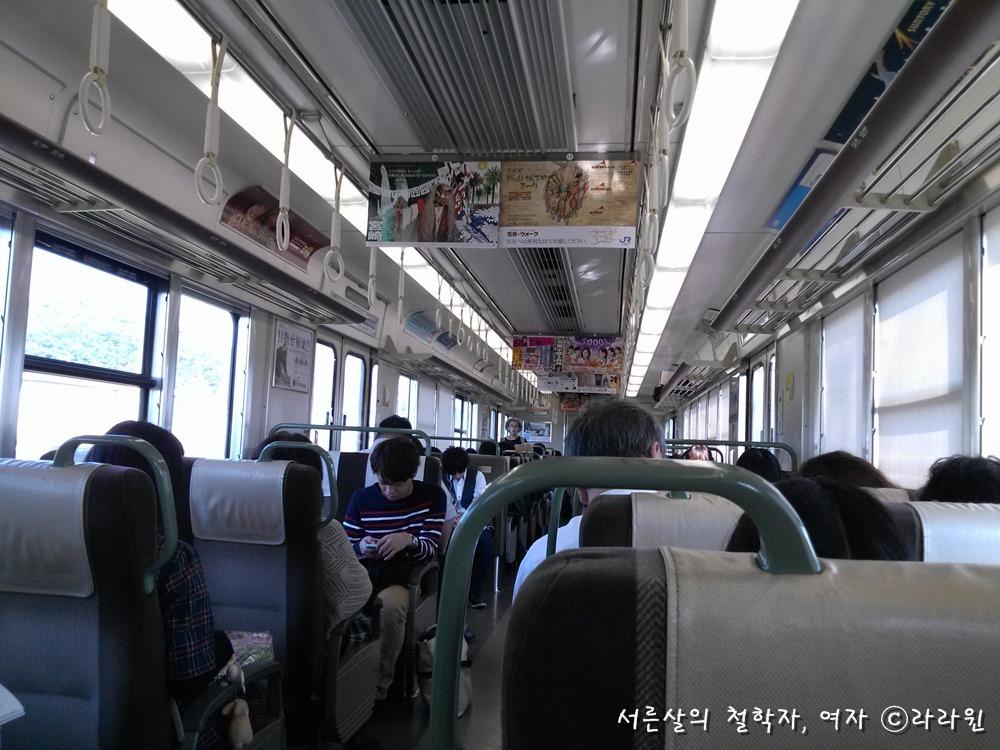 일본 JR 신쾌속 열차 내부