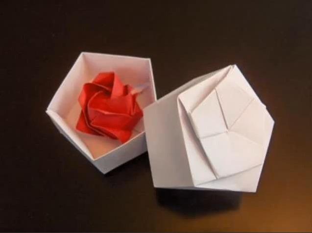 선물상자 오각형 종이박스 종이접기 동영상