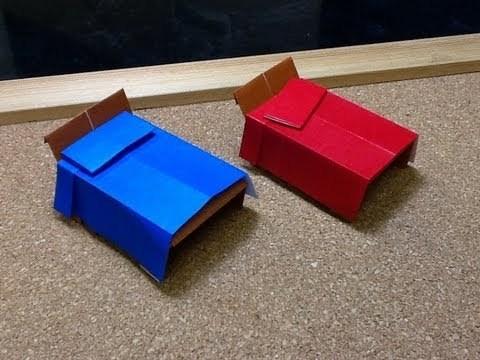 침대 (Makoto Yamaguchi) 가구 종이접기 동영상