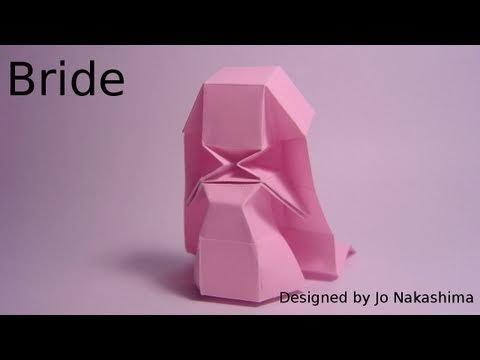 신부 여자 사람(Jo Nakashima) 종이접기 동영상