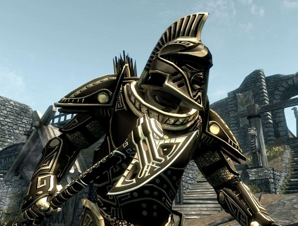 skyrim mod dwarven armor