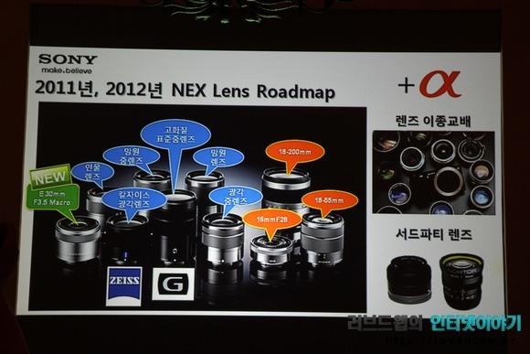 NEX 렌즈 로드맵