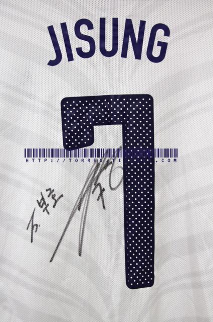 10-12 Korea National Team Away players L/S No.7 Jisung (Vs. Cote D'ivoire ,3rd,Mar,2010,London with Signature)