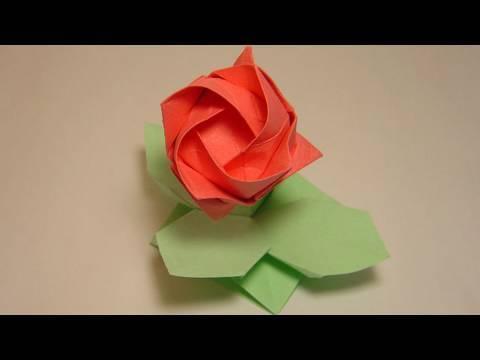 장미 꽃받침 종이접기 동영상