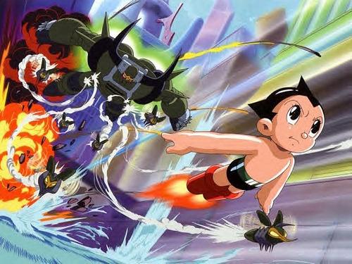 아톰 애니메이션의 한장면
