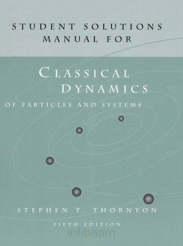 일반 역학 (Classical Dynamics Of Particles and Systems Solution) 솔루션