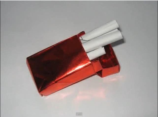 담배상자 담배곽 (David Brill) 종이상자 접기 동영상