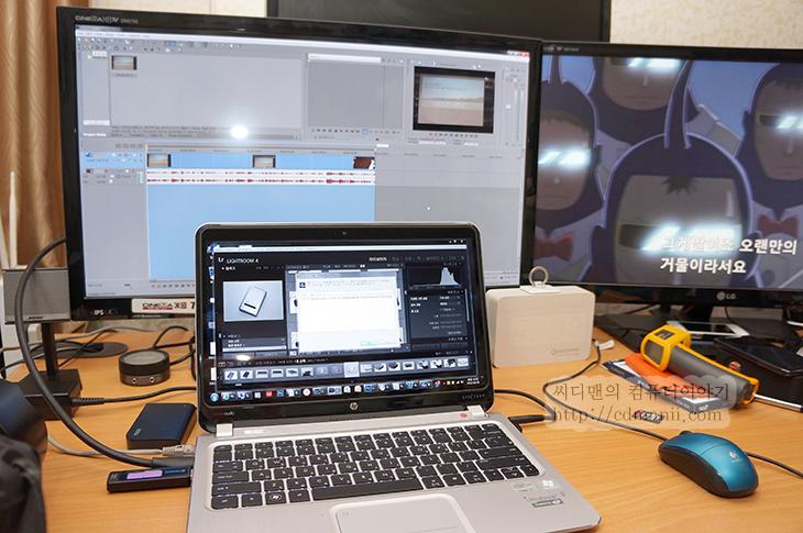 ENVY 스펙터XT, ENVY 스펙터XT 개봉기, HP울트라북, i5, i7, It, SpectreXT, SpectreXT 개봉기, SSD, 개봉기, 게임, 단점, 리뷰, 발열, 베가스, 블레이드앤소울, 사용기, 스팩터, 스펙터 XT, 스펙터XT, 스펙터XT 개봉기, 스펙터XT 단점, 엔비 스펙터XT, 인코딩, 인텔 아이비브릿지, 포토샵, 프리미어, 후기,스펙터XT 게임 블레이드앤소울 베가스 인코딩 테스트  이번 테스트에서는 게임을 좀 돌려보았는데요. 스펙터XT 게임 블레이드앤소울을 돌려보았습니다. HD4000이 사용된 인텔 3세대 코어프로세서를 사용한 2세대 울트라북 경우에 게이밍용은 아니지만 스펙터XT 경우 온라인 게임이 좀 버겁게는 돌아가긴 하네요. 데스크탑용 프로세스와는 비교급이 아니긴 하지만, 게임 이외에 작업용으로는 나름 쓸만합니다.  스펙터XT는 디자인적으로는 상당히 잘 나온편인데요. 다소 아쉬운점도 좀 가지고 있긴 합니다. 단점 부분도 이번에 좀 살펴보고 데스크탑용 대신에 활용할 때 어느정도 까지 활용이 되는지 확인해보려고 합니다. 제 경우에 포토샵을 자주 활용하는 편이고, 동영상 인코딩도 자주하는 편 입니다. SSD가 사용된 스펙터XT경우에 반응속도는 상당히 괜찮은편인데요. 게다가 i7이 사용된 경우네느 특히 더 괜찮은편이죠. 물론 게임은 좀 예외이지만, 그외에 휴대성, 작업용으로는 괜찮은 편입니다. 그럼 실제로 작업용으로 활용시 어느 부분이 괜찮았고 부족한지 살펴보도록 하겠습니다.