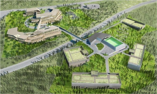 NHN 도시첨단산업단지 조감도. 춘천 데이터센터