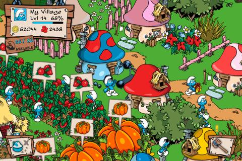 아이폰 아이패드 게임 스머프빌리지 Smurfs Village