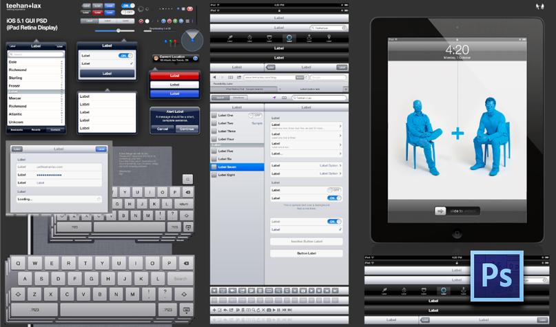 iPad GUI Psd (Retina Display)