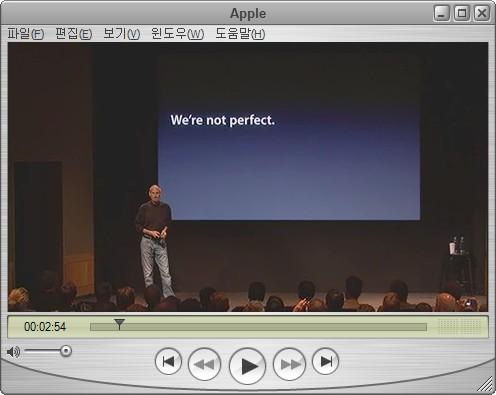 완벽하지 않은 애플