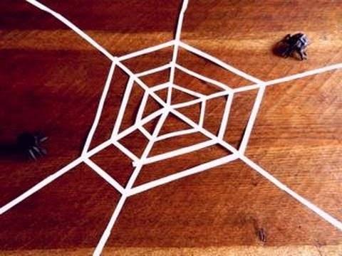 거미줄 할로윈 장식 종이접기 동영상