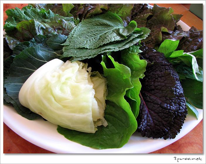 대전 맛집, 황토 우렁이마을 - 쌈채소