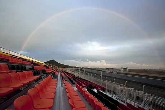 F1 코리아(Korean) GP (영암 서킷) 무지개 사진