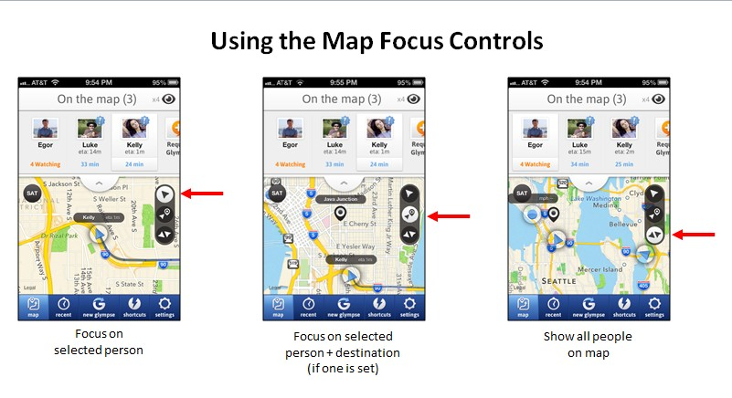 Using the Map Focus Controls