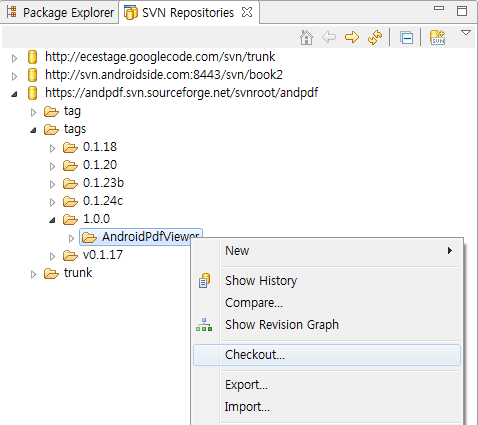 [Android] SVN으로 받은 프로젝트 세팅하기